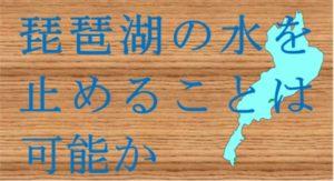 木の上に文字と琵琶湖が描かれている