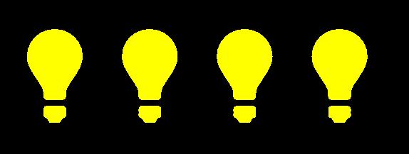 4つの電球