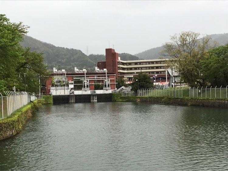 宇治発電所石山制水門