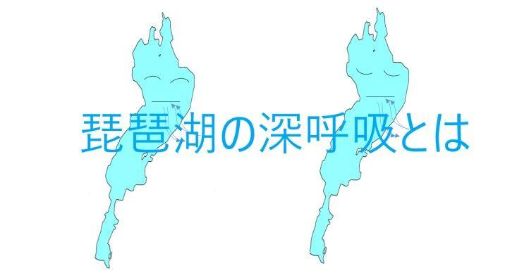 2つの琵琶湖が深呼吸をしている
