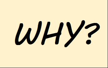 「why」という文字
