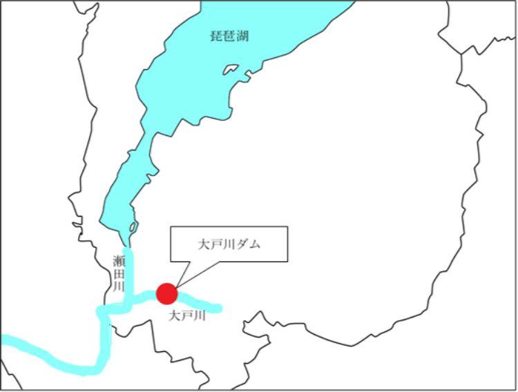 大戸川の位置を示す地図