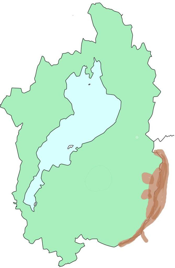 鈴鹿国定公園の場所を示した図