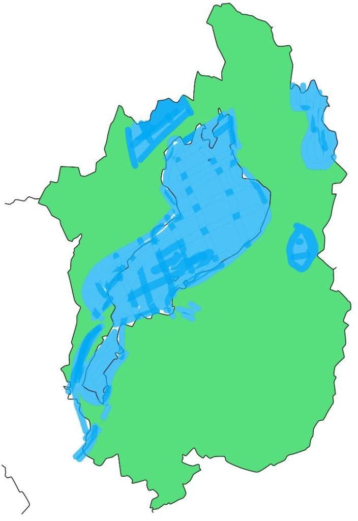 琵琶湖国定公園の場所を示した図