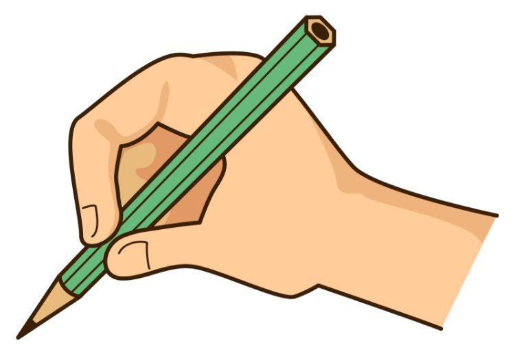 鉛筆による記入