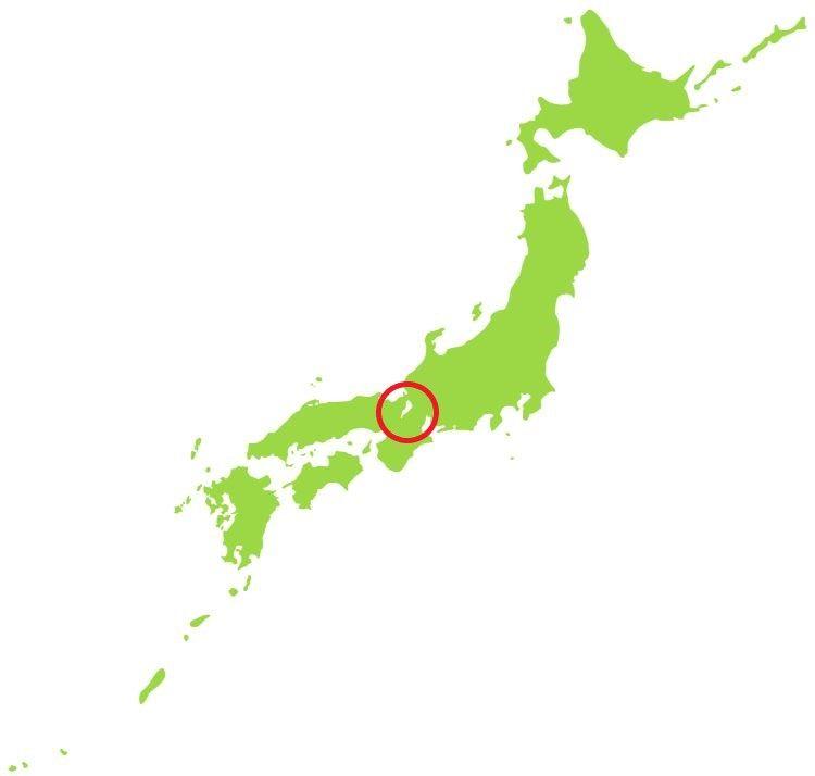 日本地図における琵琶湖