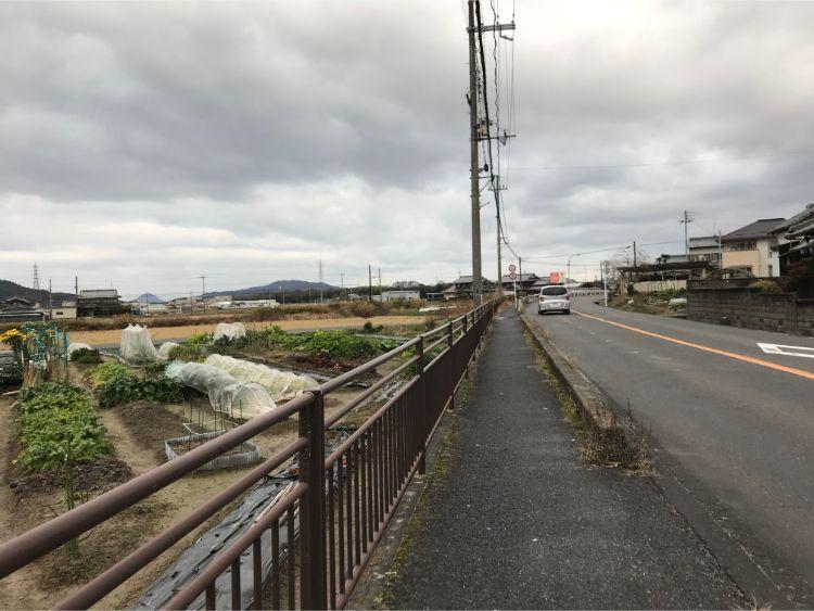 水口町貴生川付近
