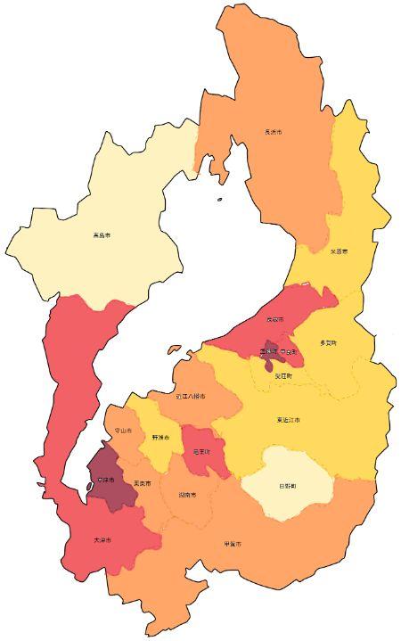 滋賀県犯罪率マップ