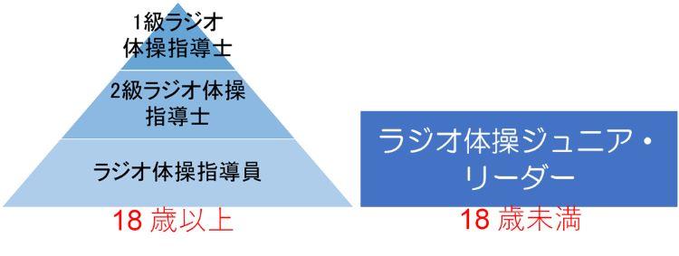 ラジオ体操資格を示した図