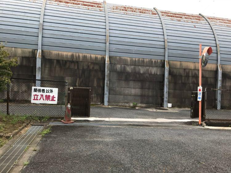 草津パーキングエリア(上り)第2パーキング関係者入り口
