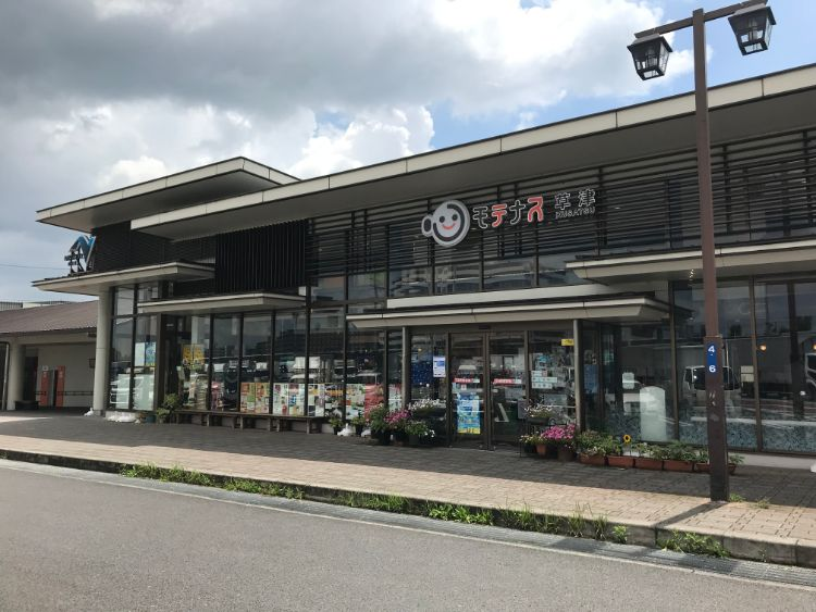 草津パーキングエリア(下り)レストラン・売店建物の外観