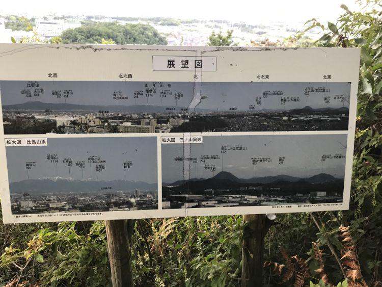 牟礼山展望台から見える場所