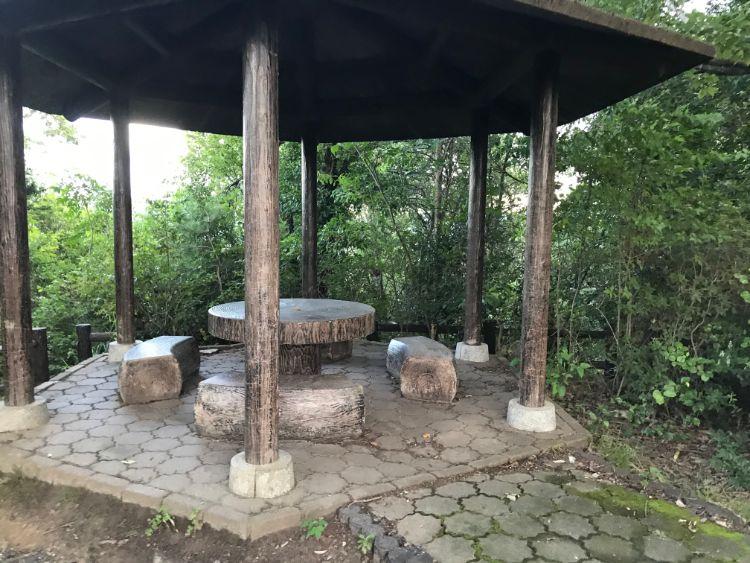 牟礼山山頂の休憩所