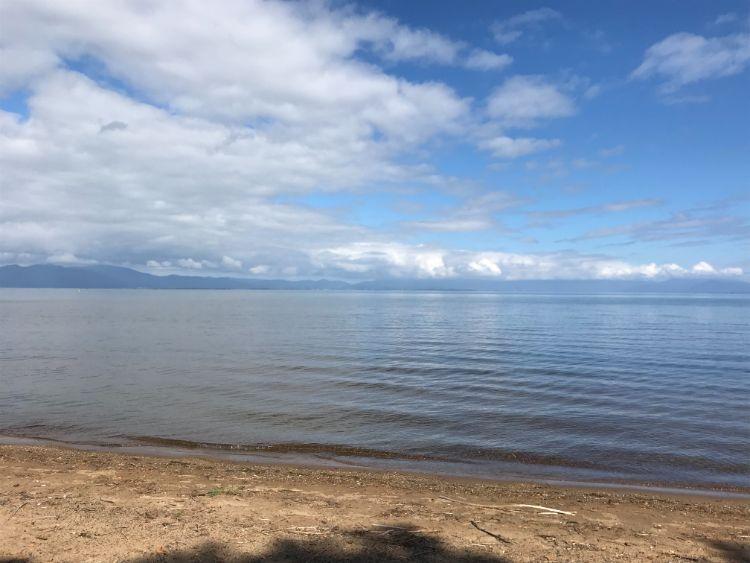 南三ツ谷公園から見える琵琶湖