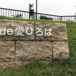 緑あふれる草津川跡地公園de愛ひろば。よい散歩スポットです。