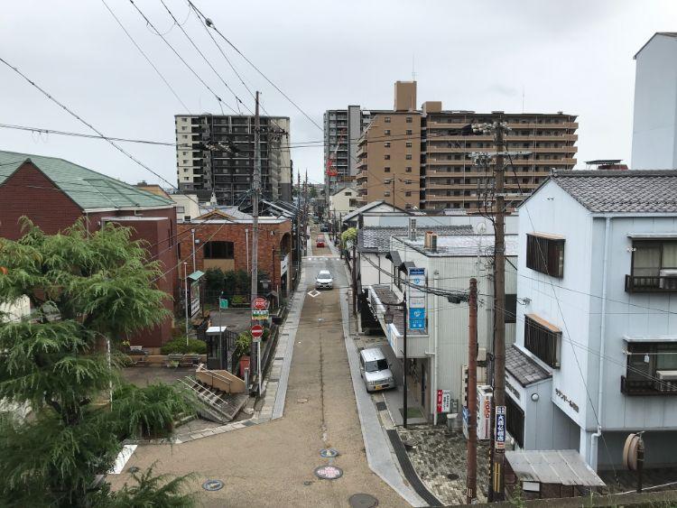 de愛ひろばから見た旧東海道