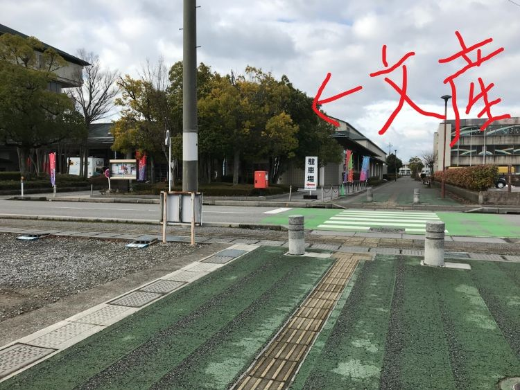 文産会館近くの横断歩道