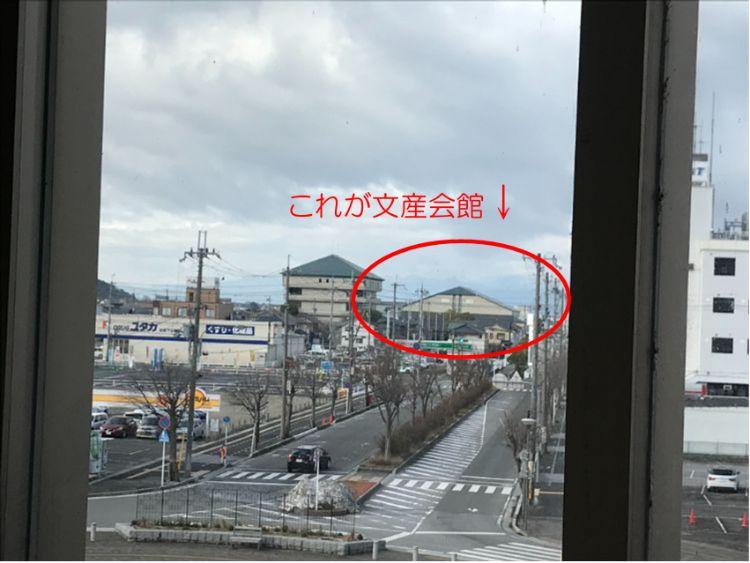 米原駅西口エスカレーターからの風景