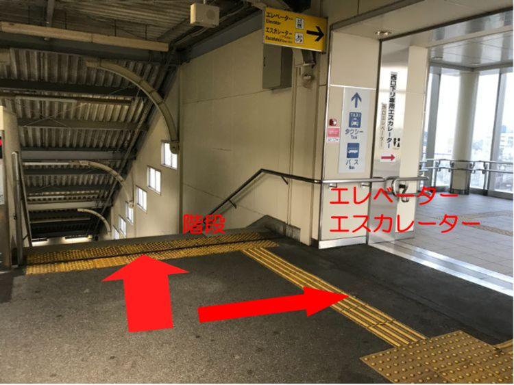 米原駅西口階段