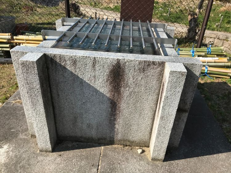 金ヶ森湧水のポンプ