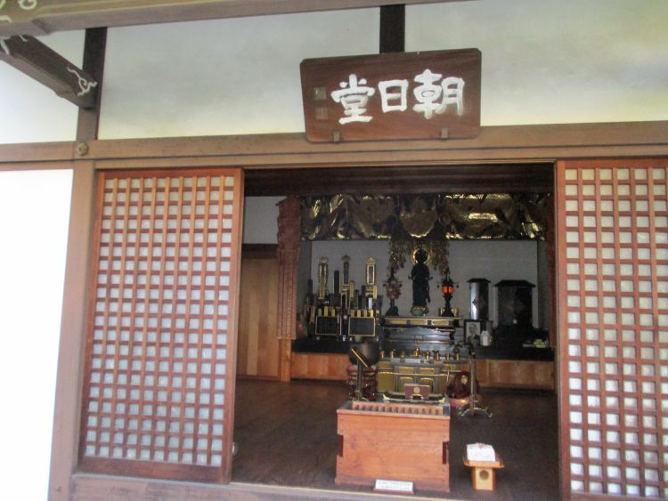 義仲寺の朝日堂