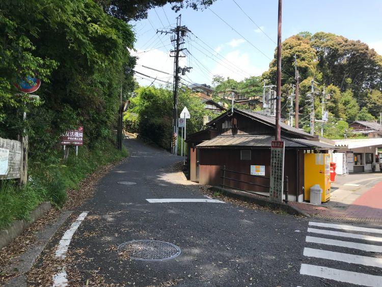 伽藍山への道路