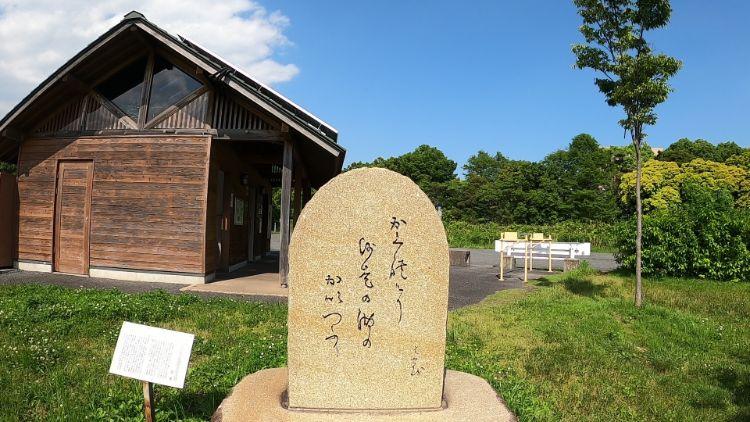 帰帆島にある松尾芭蕉の句碑
