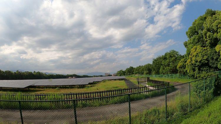 矢橋帰帆島の太陽光発電
