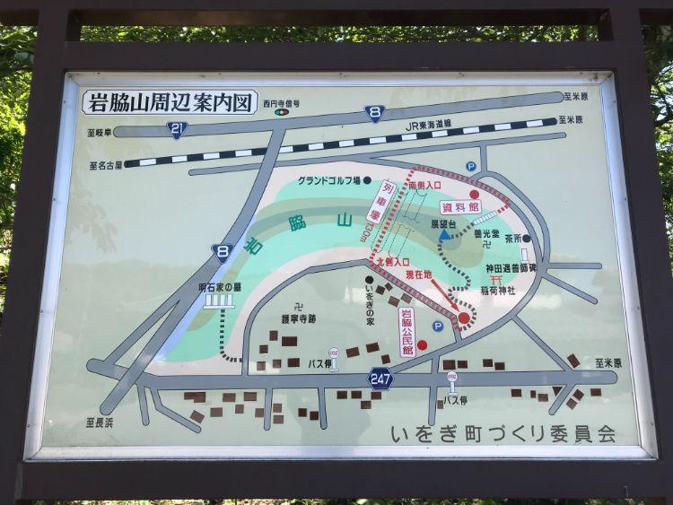 米原市岩脇の地図