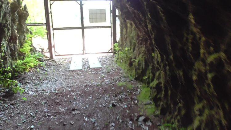岩脇蒸気機関車避難壕の東側避難壕の南側