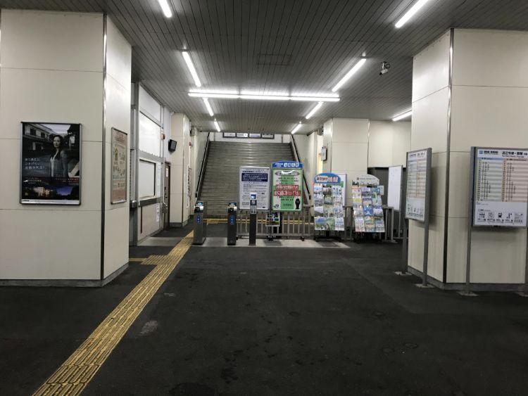 志賀駅改札